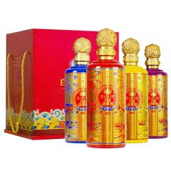 52°贵州茅台集团白金迎宾T100 浓香型白酒 500ml*4瓶礼盒装礼酒