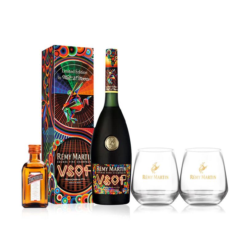 40°人头马VSOP马特穆尔限量版干邑白兰地700ml+40°法国君度橙味力娇酒50ml+XO威士忌杯*2