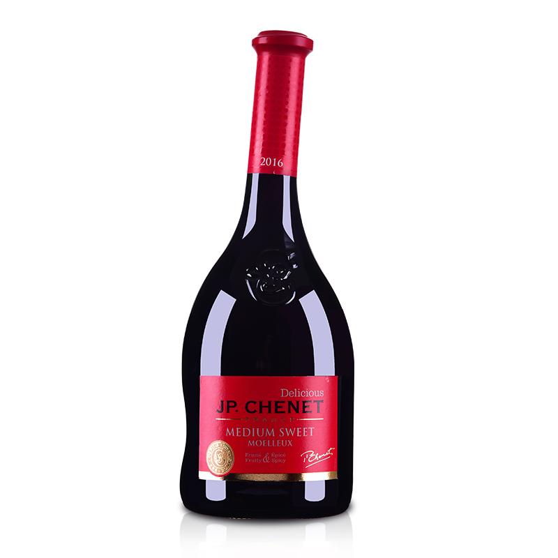 法国香奈半甜红葡萄酒750ml