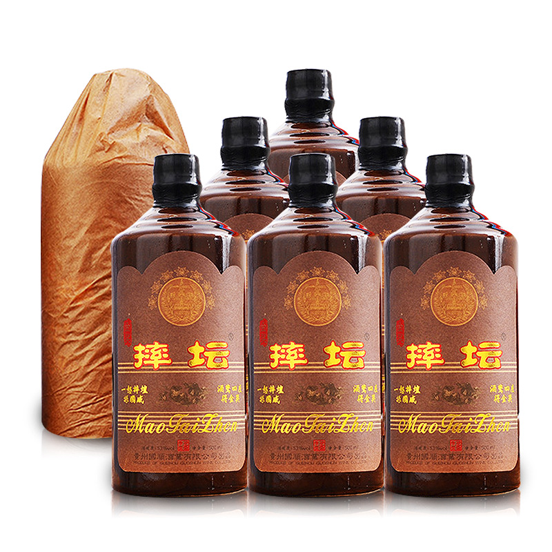 53°贵州茅台镇·摔坛金奖酒 酱香型白酒500ml(6瓶装)