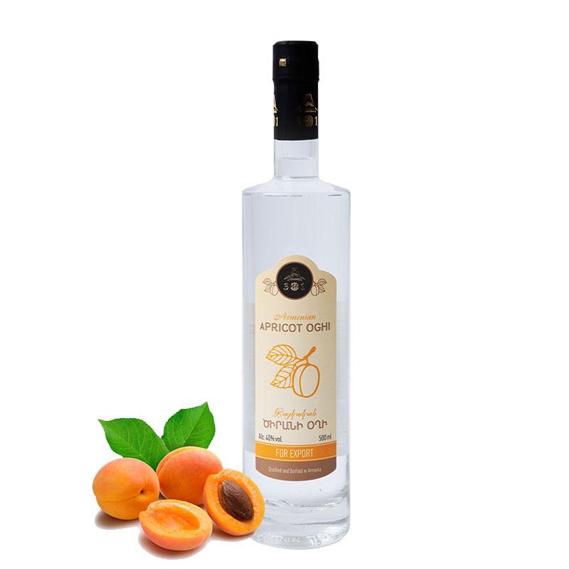 杏果汁发酵伏特加亚美尼亚原瓶进口40度500ml水果酒