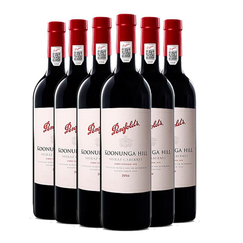 奔富(Penfolds)澳洲进口奔富寇兰山设拉子赤霞珠红葡萄酒750ml(6瓶装)