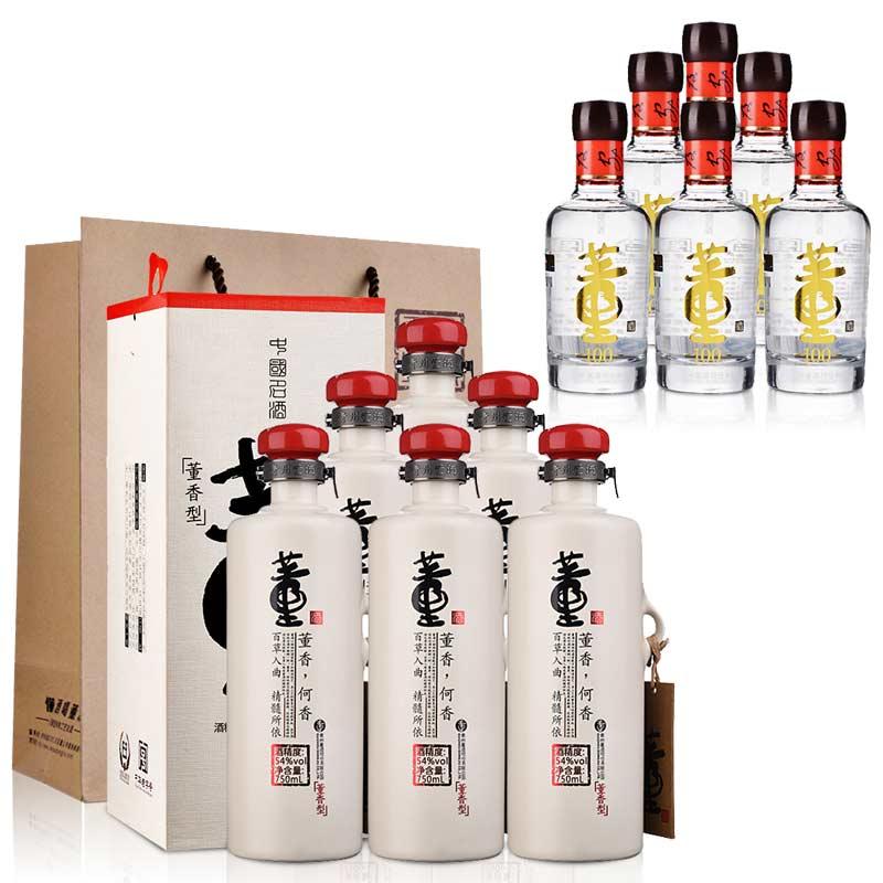 54°董酒何香750ml(6瓶装)+54°董酒(100)100ml(乐享)