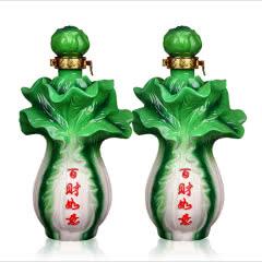 53°杏花集团特产百财如意清香型原浆酒500mL*2瓶装礼盒白酒