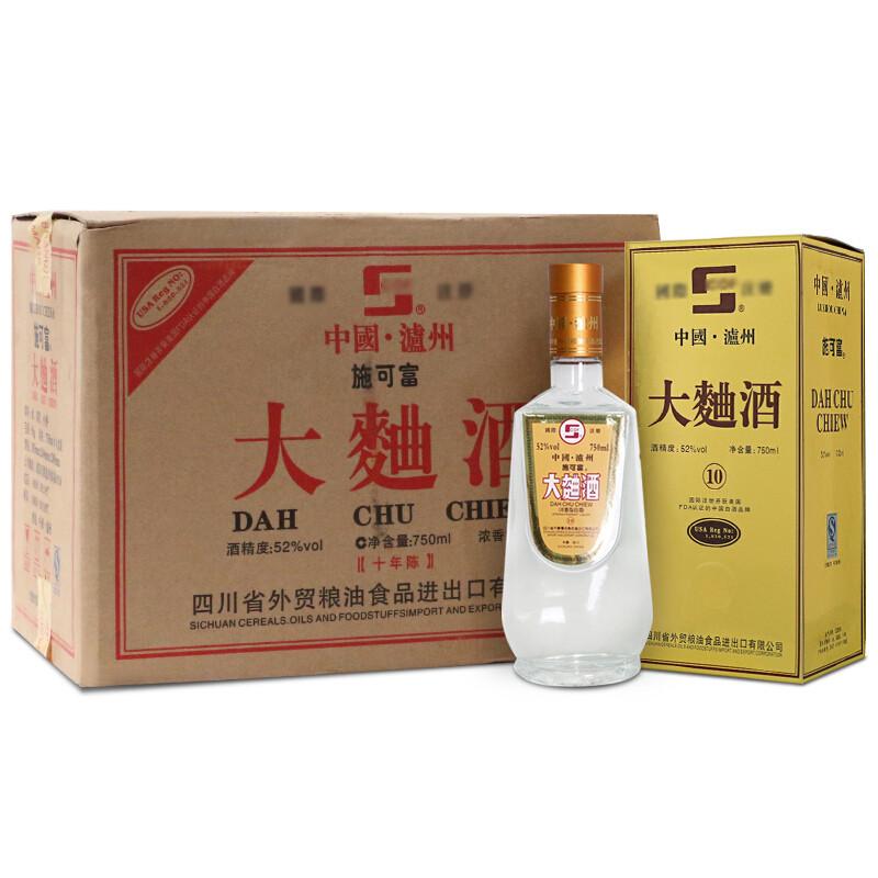52°施可富大曲酒750ml(2006年)1箱6瓶