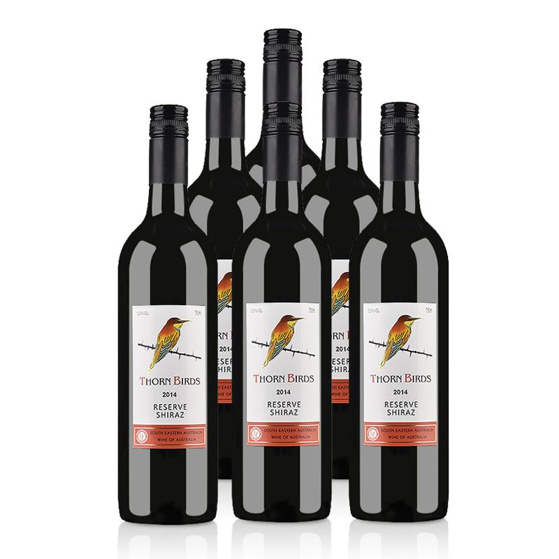 澳大利亚朗翡洛荆棘鸟珍藏西拉红葡萄酒750ml*6