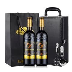 法国原酒进口红酒浮雕艺术瓶玛歌庄园赤霞珠干红葡萄酒750ml*2(礼盒装)