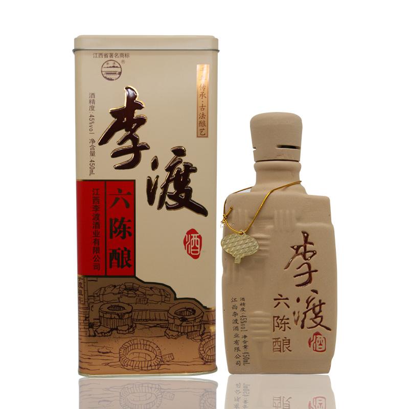 45°李渡酒六年陈 450ml 浓特兼香型 瓶装酒 白酒