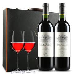 拉菲奥希耶徽纹干红葡萄酒 法国原瓶进口红酒 双支礼盒 年货礼盒 750ml*2