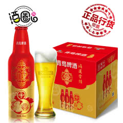 青岛啤酒鸿运当头金猪铝罐355ml*12瓶整箱装