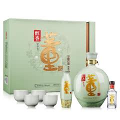 54°董酒醇香礼盒1000ml+54°董酒(100)100ml(乐享)