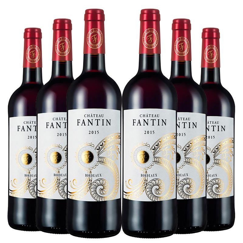 法国整箱装拉蒙芳汀波尔多AOP干红葡萄酒整箱装750ml*6