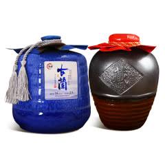 绍兴黄酒 糯米花雕老酒5斤2.5Lx2坛装组合手提礼盒装半甜型 加饭米酒 送礼收藏自饮包邮