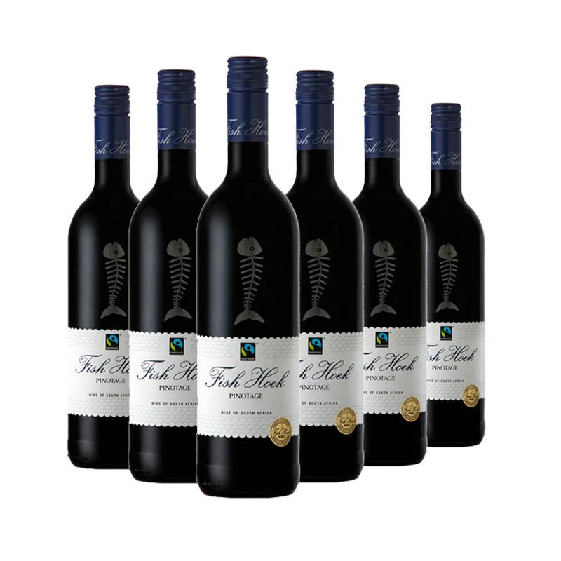 渔人酒庄皮诺塔吉红葡萄酒 2018 750ml(6瓶装)