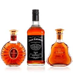 【洋酒爆款】xo洋酒3瓶组合套装正品洋酒小酒版威士忌700ml+白兰地248ml*