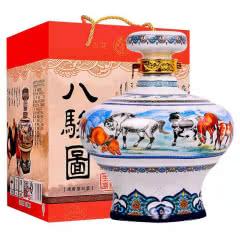 53° 八骏图杏花村汾酒产地纯粮酿造高度清香型礼盒白酒 1500ml*1瓶
