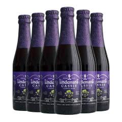 比利时进口林德曼蓝莓味精酿女士啤酒250ml*6瓶装