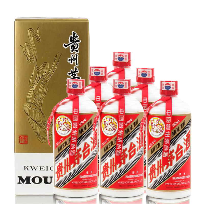 【老酒特卖】53°茅台飞天(2006)500ml*6(整箱装)