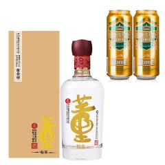 54°董酒(畅享版)500ml+德国狮虎争霸比尔森啤酒500ml*2