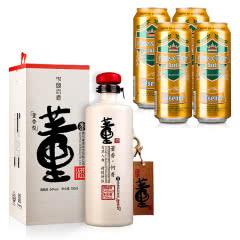 54°董酒何香750ml+德国狮虎争霸比尔森啤酒500ml*4