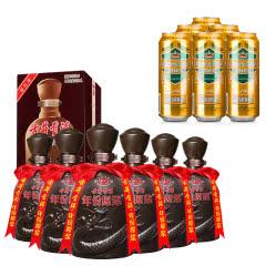 50°古井贡酒原浆献礼版500ml*6+德国狮虎争霸比尔森啤酒500ml*6