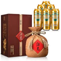 52°酒鬼原浆酒500ml+德国狮虎争霸比尔森啤酒500ml*6