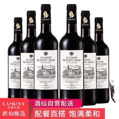 拉蒙圣亚当法国原瓶进口波尔多AOP干红葡萄酒整箱装750ml*6