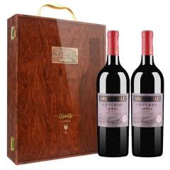 长城(GreatWall) 红酒 长城五星赤霞珠干红葡萄酒750ml 钢琴烤漆 双支礼盒