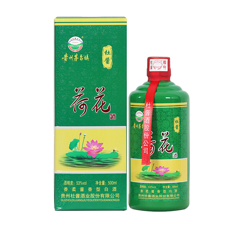 53°贵州茅台镇杜酱荷花酒 香柔酱香型白酒 500ml