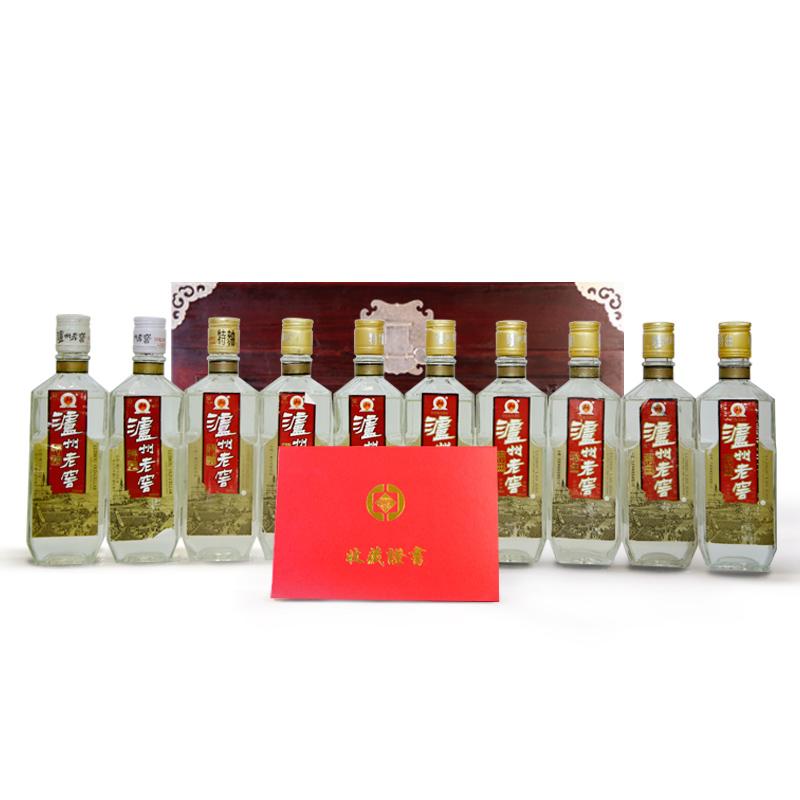 1990-1999年泸州老窖特曲套装(10瓶)