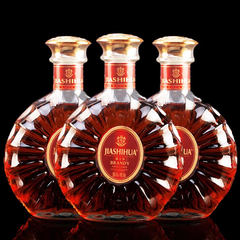 正品嘉士华白兰地xo洋酒套装组合基酒brandy威士忌酒500ml*3瓶