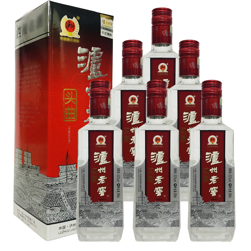 老酒 52度泸州老窖头曲酒500ml (6瓶装) 2010年
