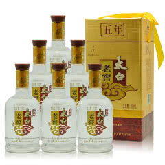 52°陕西太白酒五年老窖兼香型白酒500ml*6(2011年)