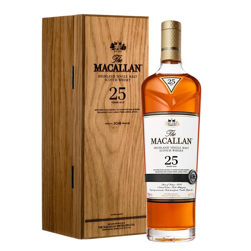 43°麦卡伦25年单一麦芽威士忌700mL