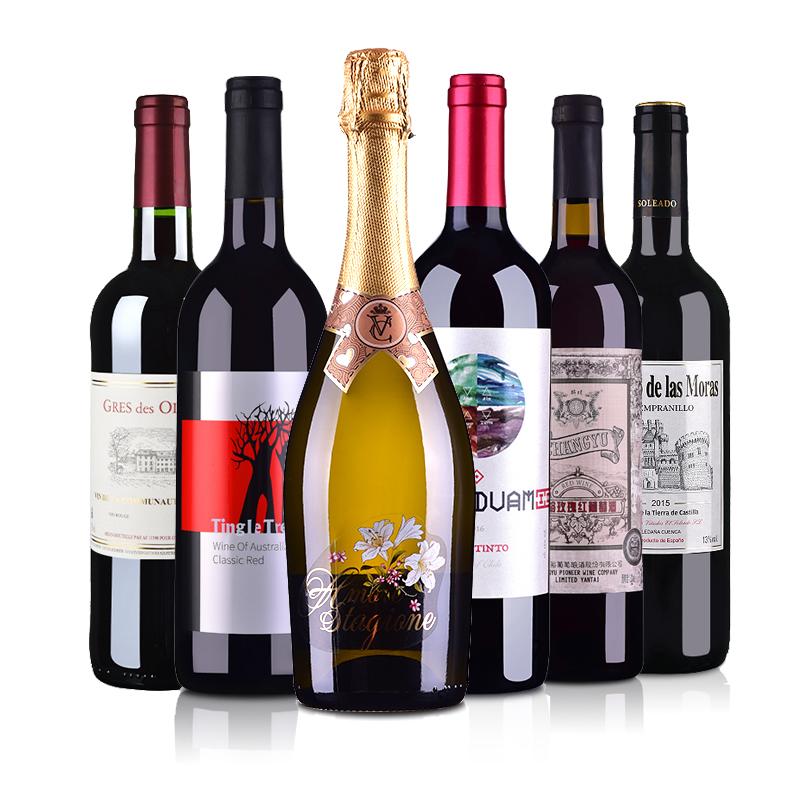 六国联盟葡萄酒套装(法国、意大利、智利、西班牙、澳大利亚、中国)