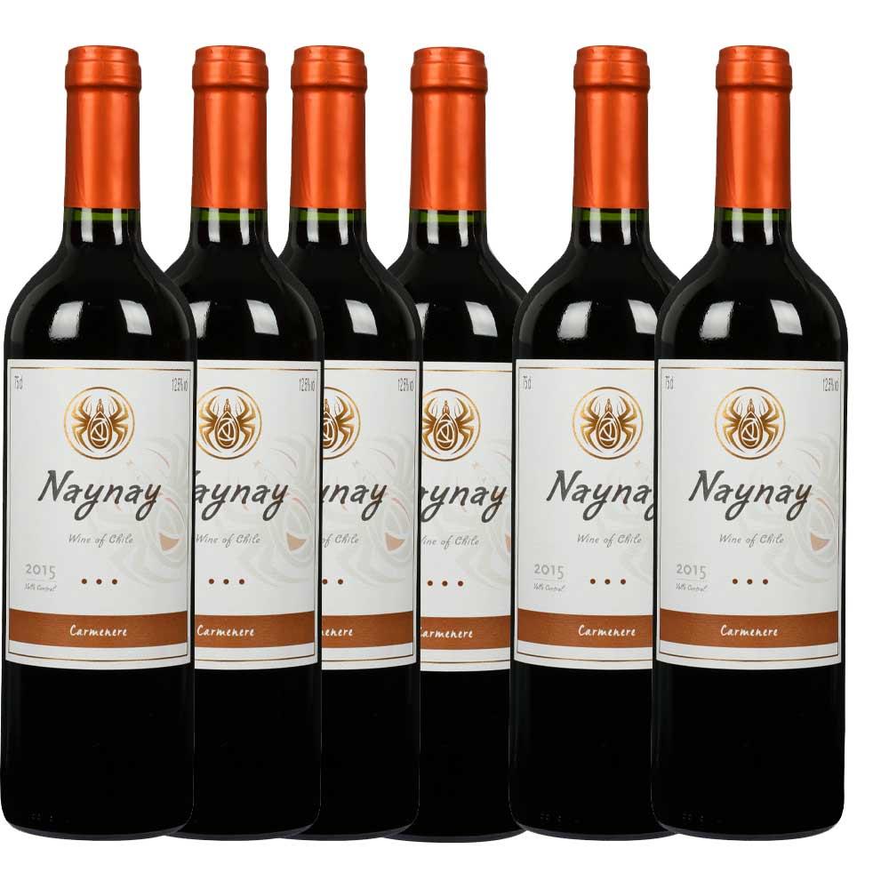 12.5°干露火玫瑰 佳美娜红葡萄酒750ml*6瓶
