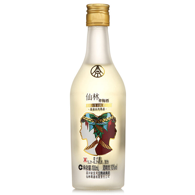 10°五粮液十二星座系列青梅酒100ml
