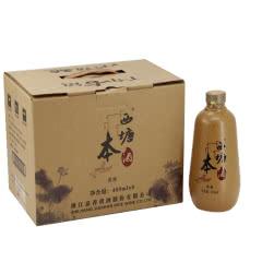 嘉善黄酒12°西塘本酒450ml*6瓶价 无焦糖色半干型