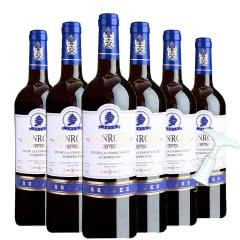 法国原瓶进口宾露干红葡萄酒红酒(蓝钻)送开瓶器750ml*6