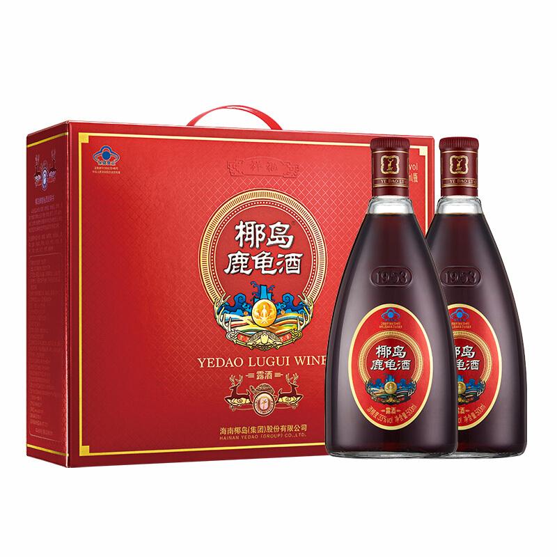 33° 椰岛鹿龟酒 祥福礼盒装 500ml(2瓶)