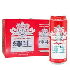 百威英博瓦丁格纯生啤酒500ml*12