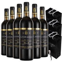 法国红酒(原瓶进口)朗格多克罗恩赤霞珠梅洛混酿干红葡萄酒750ml*6