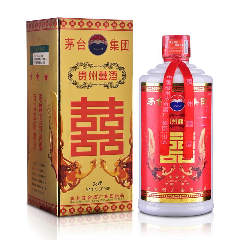 【老酒特卖】38°茅台集团贵州囍酒500ml(2002年)