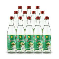52°牛栏山 陈酿白酒 白牛二/牛白瓶浓香风格白酒 500ml*12瓶 整箱装