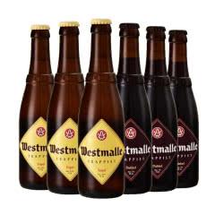 西麦尔比利时修道院双料、三料啤酒组合装330ml(6瓶)
