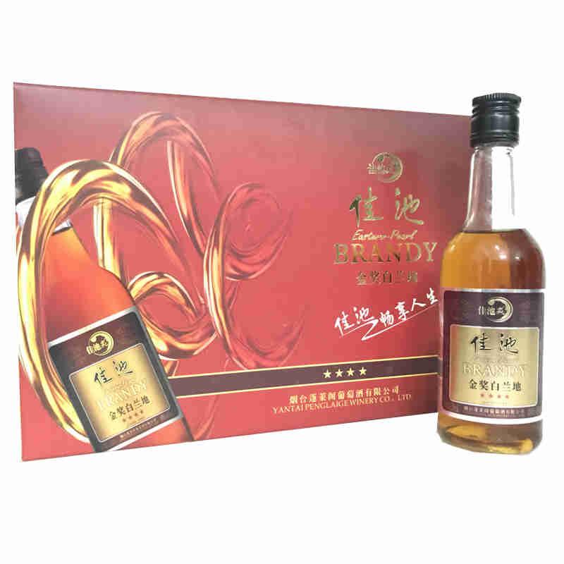 融汇陈年老酒 佳池金奖白兰地138ml(10瓶装)2013年