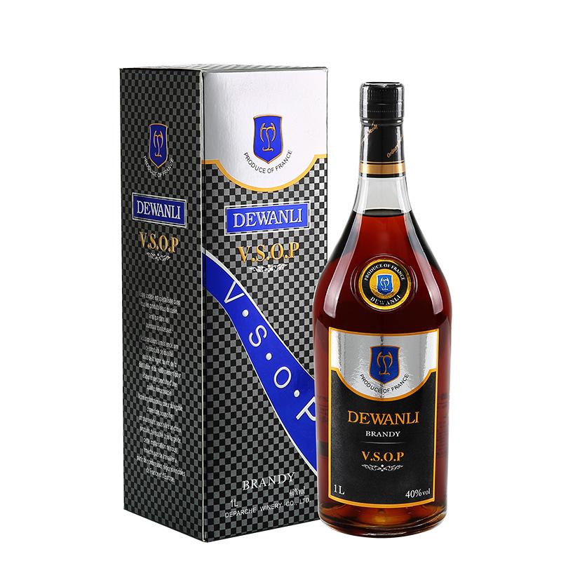德万利(DEWANLI)vsop洋酒白兰地礼盒装 法国原液进口 洋酒 1000mlx1瓶