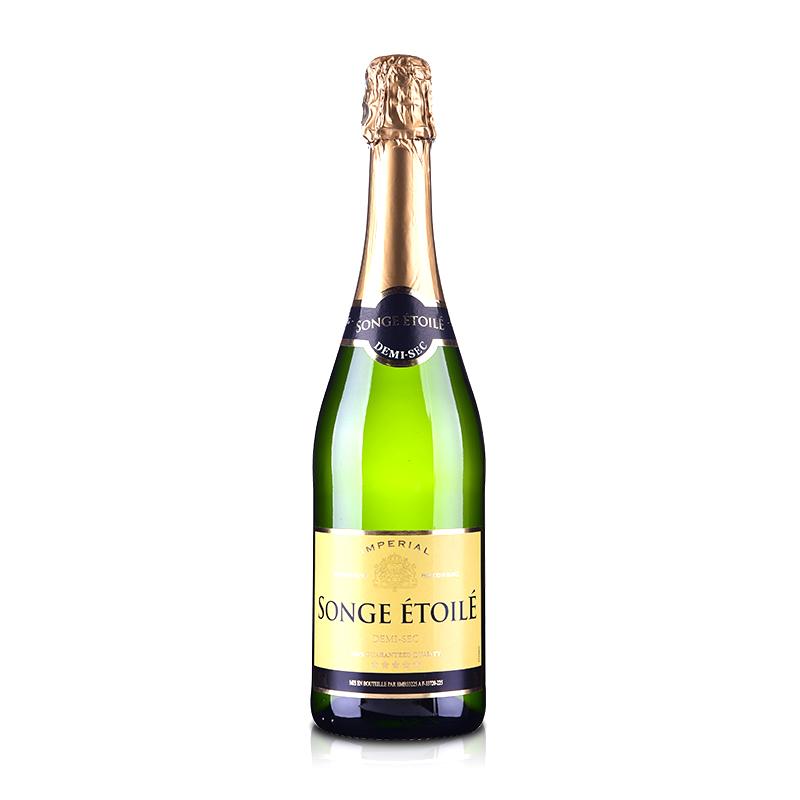 【包邮】法国梦幻之星半干起泡葡萄酒750ml