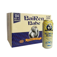 12°P白啤酒BAIRENBAHE 德国工艺啤酒拜仁巴赫.艾尔500ml*24听(整箱装)