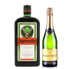 35°野格利口酒(配制酒)700ml+法国梦幻之星半干起泡葡萄酒750ml